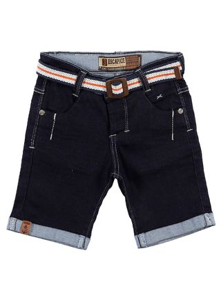 Bermuda Jeans Infantil para Menino - Azul