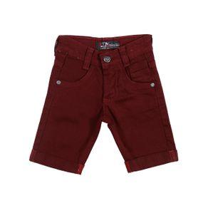 Bermuda Jeans Infantil para Menino - Bordô 3