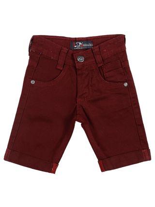 Bermuda Jeans Infantil para Menino - Bordô