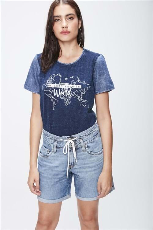 Bermuda Jeans Jogger Feminina