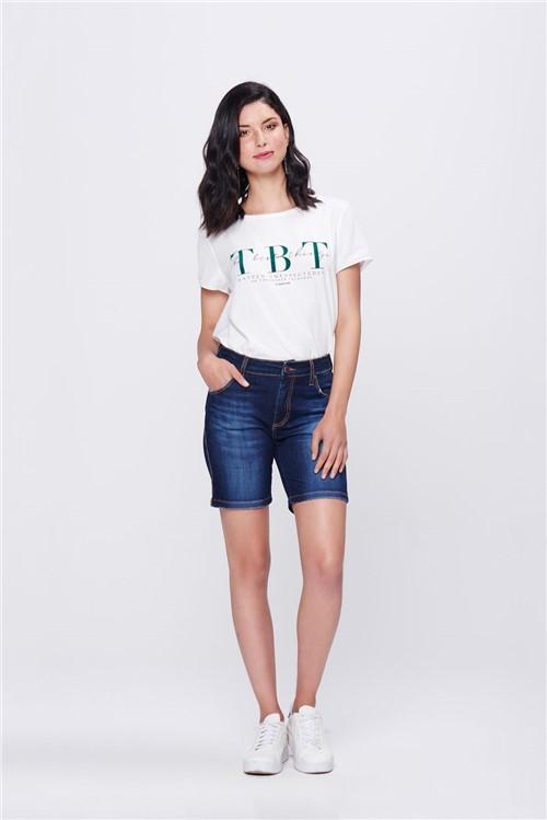 Bermuda Jeans Justa Básica Feminina
