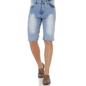 Bermuda Jeans Masculina Azul 42