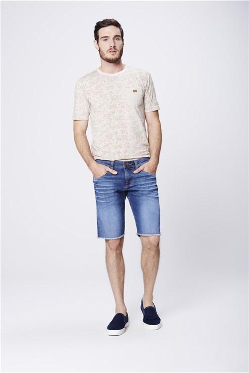Bermuda Jeans Masculina Barra Desfiada