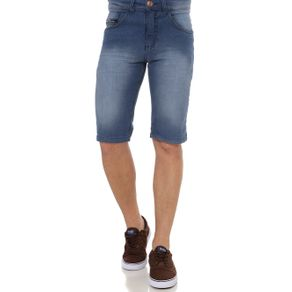 Bermuda Jeans Masculina Elétron Azul 36