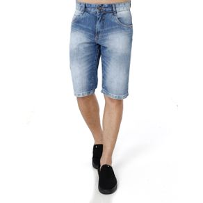 Bermuda Jeans Masculina Mokkai Azul 38