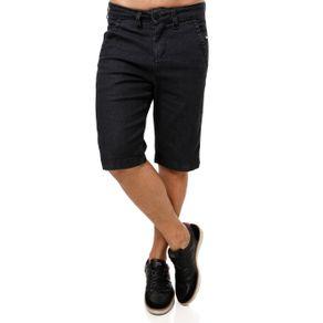 Bermuda Jeans Masculina Preto 42