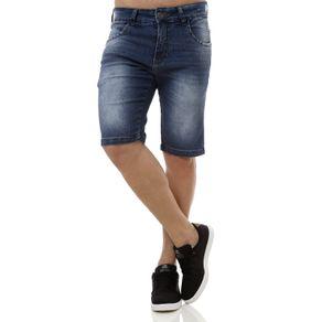 Bermuda Jeans Masculina Rock e Soda Azul 44