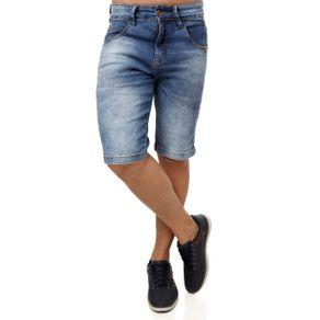 Bermuda Jeans Masculina Rock e Soda Azul 36