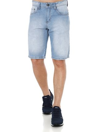 Bermuda Jeans Masculina Vilejack Azul