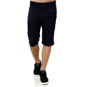 Bermuda Jeans Moletom Masculina Azul 46