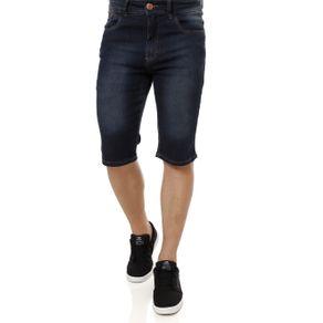 Bermuda Jeans Moletom Masculina Azul 36