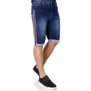 Bermuda Jeans Moletom Masculina Azul 38