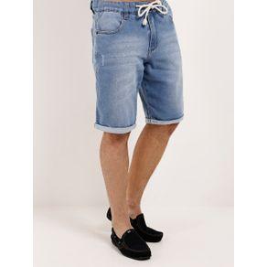 Bermuda Jeans Moletom Masculina Azul Bermuda Jeans Masculina Azul 40