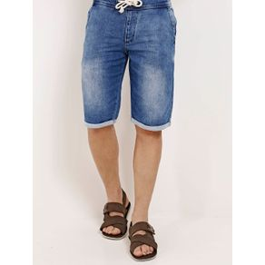 Bermuda Jeans Moletom Masculina Azul GG