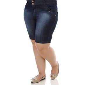 Bermuda Jeans Plus Size Feminina Azul 40