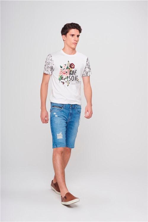 Bermuda Jeans Skinny Masculina