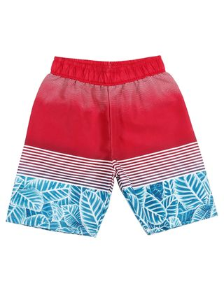 Bermuda Juvenil para Menino - Vermelho/azul