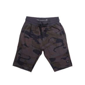 Bermuda Moletom Camuflada Juvenil para Menino - Cinza 18