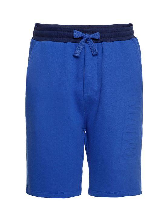 Bermuda Moletom Infantil Calvin Klein Jeans Logo Baixo Relevo Azul Royal - 2
