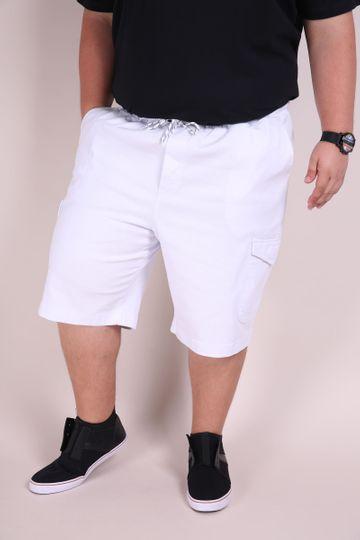 Bermuda Sarja Confort Plus Size Branco P