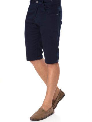 Bermuda Sarja Masculina Azul Marinho