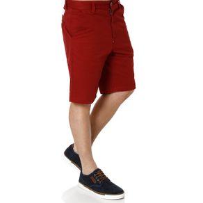 Bermuda Sarja Masculina Vermelho 36