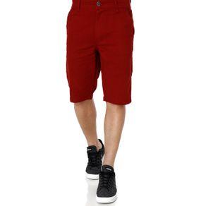 Bermuda Sarja Masculina Vermelho 44