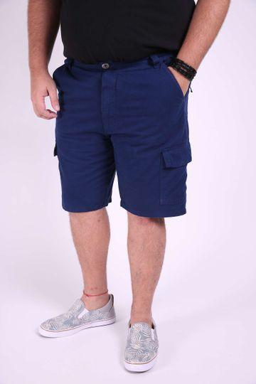 Bermuda Sarja Plus Size Azul Marinho 50
