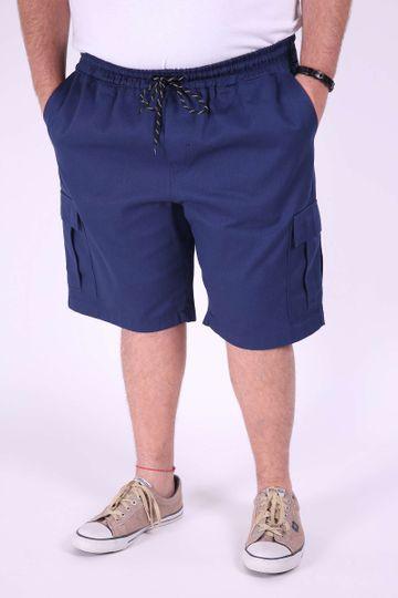 Bermuda Sarja Plus Size Azul Marinho EX