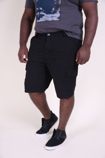Bermuda Sarja Plus Size Preto 52