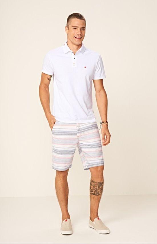Bermuda Slim Masculina Adulto Enfim Branco - 36