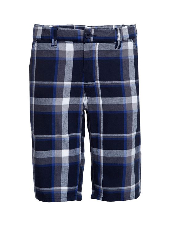 Bermuda Xadrez Infantil Calvin Klein Jeans Marinho - 8
