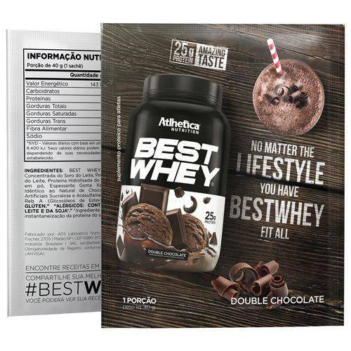 Best Whey - 1 Sachê 40g Chocolate Brownie - Atlhetica Nutrition