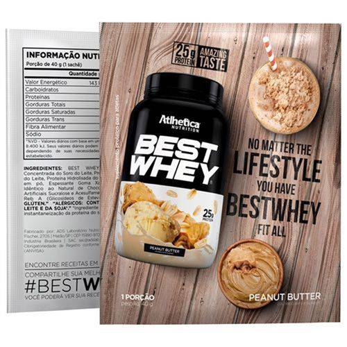 Best Whey 1 Sachê - Atlhetica Nutrition - Double Chocolate