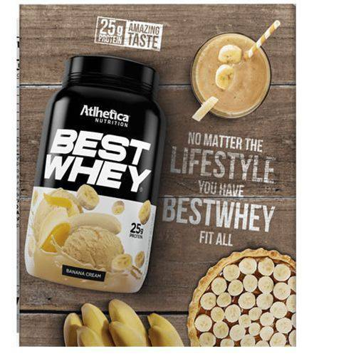 Best Whey - 1 Sachês 40g Banana Cream - Atlhetica Nutrition