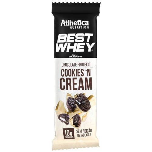 Best Whey Chocolate Proteíco Branco - Cookies And Cream- 50g - Atlhetica Nutrition