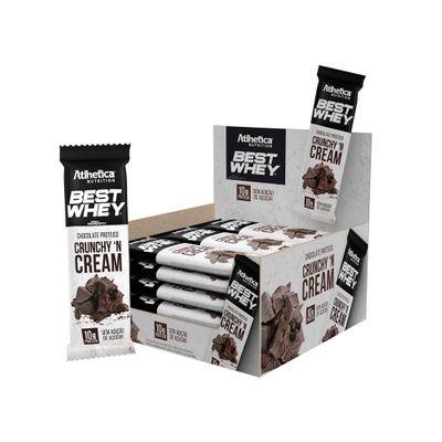 Best Whey Chocolate Proteico Caixa 12x50g Atlhetica Nutrition Best Whey Chocolate Proteico Caixa 12x50g Crunchy' N Cream Atlhetica Nutrition
