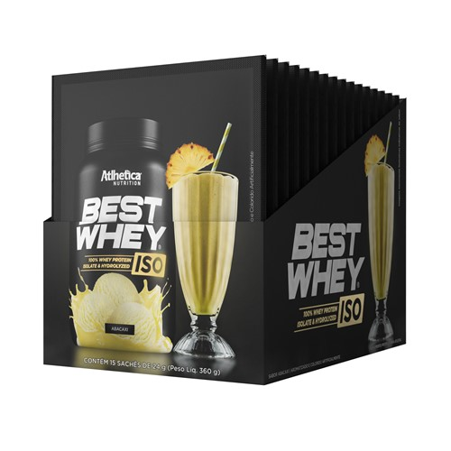 Best Whey Iso (15 Sachês-27g) Atlhetica Nutrition-Abacaxi
