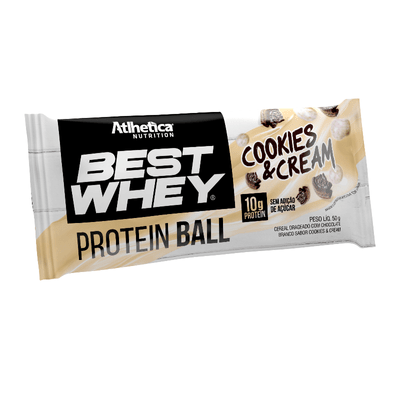 Best Whey Protein Ball 50g - Atlhetica Nutrition Best Whey Protein Ball 50g Cookies Cream - Atlhetica Nutrition