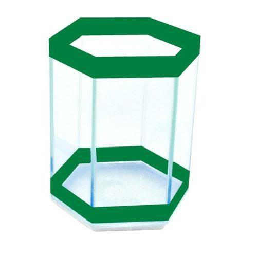 Beteira Sextavada Pequena Simples Verde