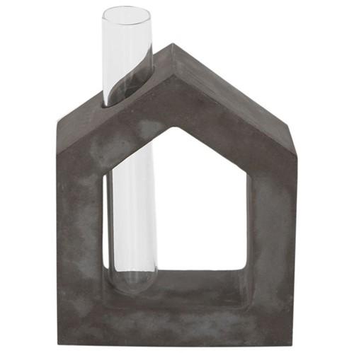 Beton Frame Vaso House 12 Cm Konkret/incolor