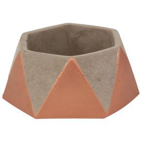 Beton Geotric High Cachepô 5cm Konkret/cobre