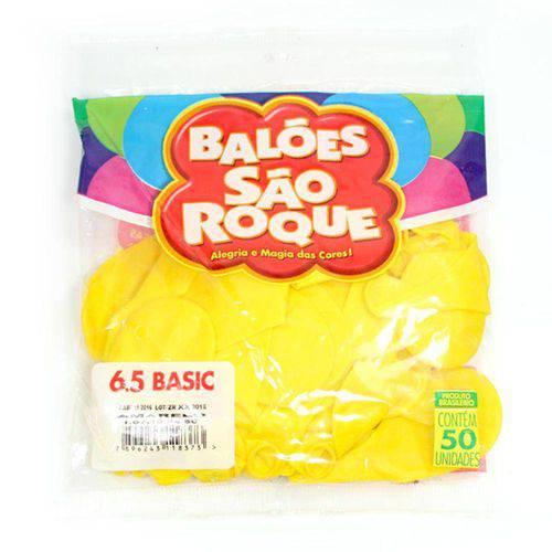 Bexiga Classic N.065 Amarelo Pct.C/50 Sao Roque