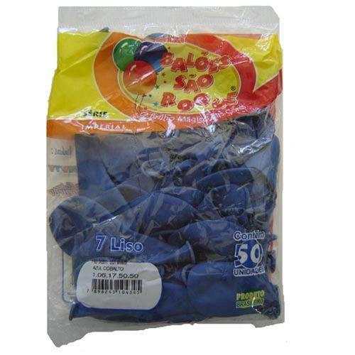 Bexiga Imperial N.070 Azul Cobalto Pct.C/50 Sao Roque
