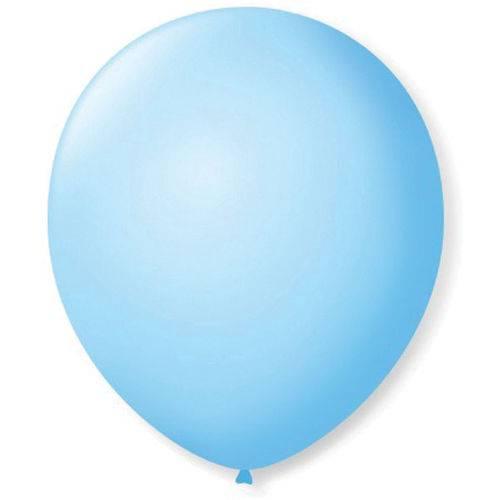 Bexiga para Dec. Redondo N. 09 Azul Baby Pct.c/50 Sao Roque