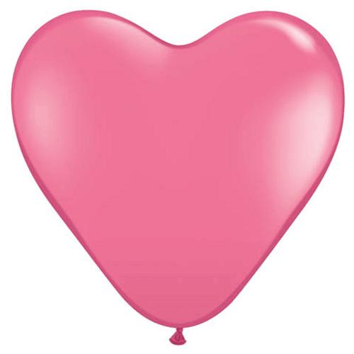 Bexiga Pic Pic Coração 6 Rosa Baby - 50 Unidades 1016854