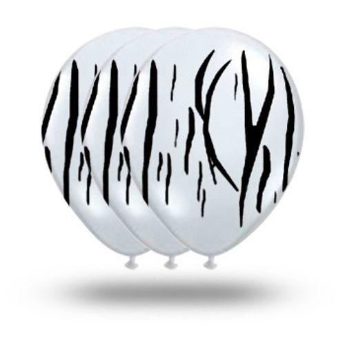 Bexiga Pic Pic Fantasia Zebra Branco/preto - 25 Unidades 1016896