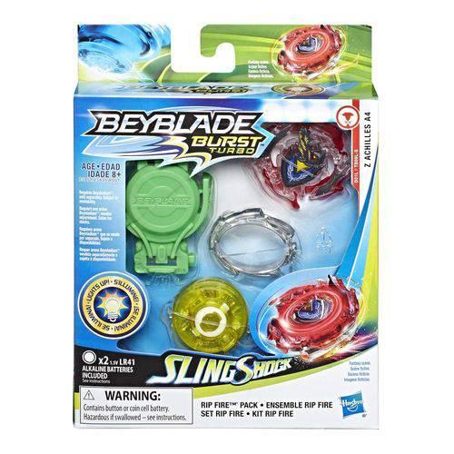 Beyblade Burst - Slingshock - Rip Fire Starter Pack - Z Achilles A4 - Hasbro E5951