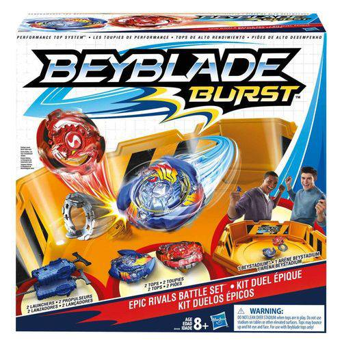 Beyblade Kit Duelos Epicos Hasbro 12053 B9498 Hasbro
