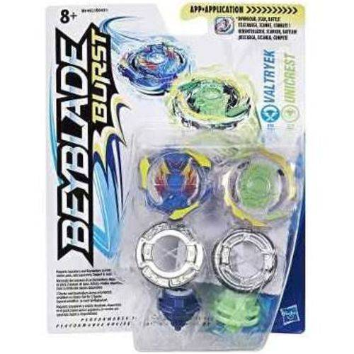 Beyblade Pack com 2 Piões Valtryek Vc Unicrest B9491 Hasbro
